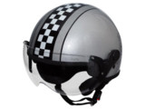 CAPACETE KRAFT ROTA 66 CUSTOM USA/Cinza-Diagonal